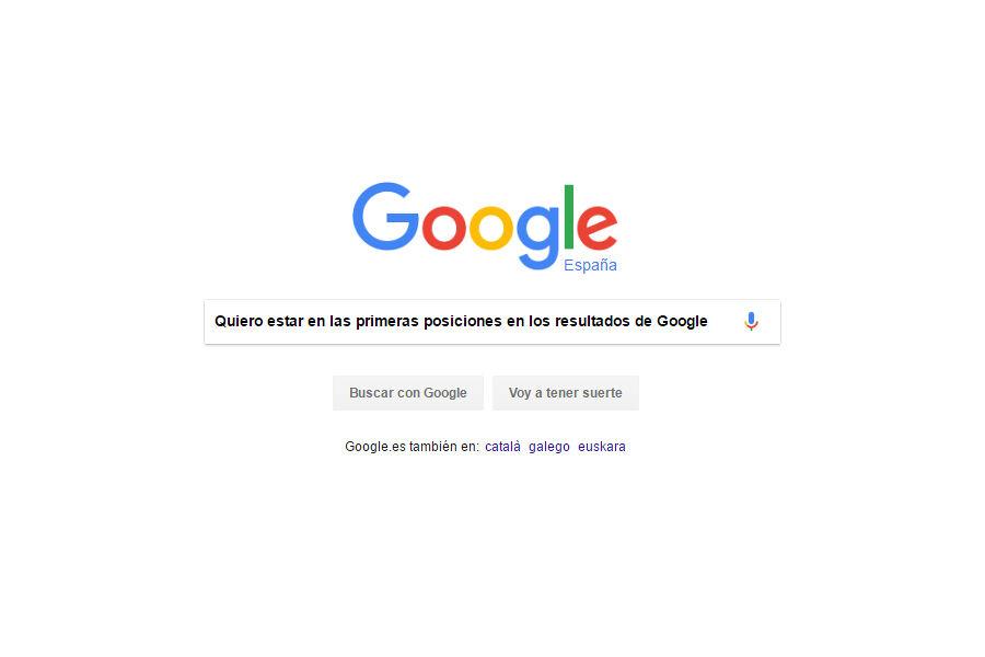 Resultado de búsqueda de quiero estar en las primeras posiciones de los resultados de Google